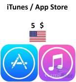iTunes App Store Gift Card 5 USD