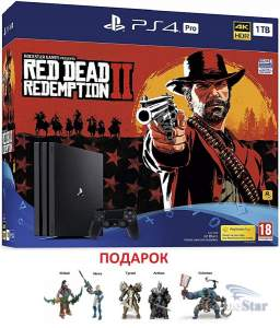 Sony PlayStation 4 Pro 1TB Bundle Red Dead Redemption 2 ps4
